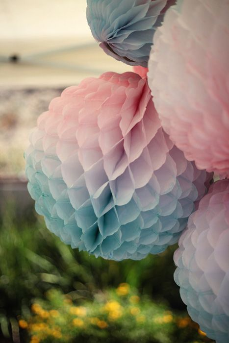 watercolor honeycomb balls