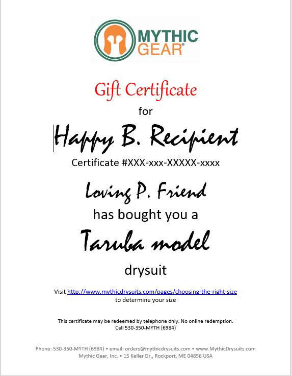 Taruba Drysuit Gift Certificate Products, Gift certificates and Gifts - fresh younique gift certificate template