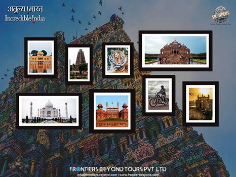 Incredible India  #india #taj #agra #tour #delhi #redfort #meenakshitemple #travel #mahabodhitemple #jaipur #jalmahal #adventure #culture #offbeat #incredibleindia #filming #wildlife #tourism #akshardhamtemple #mumbai #gatewayofindia #bodhgaya #FBTPL #FrontiersBeyondToursPvtLtd