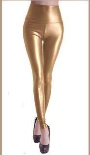 Autumn Spring Women High Quality PU Slim Leggings Female Faux Leather Trousers High Waist Elastic Pencil Pants