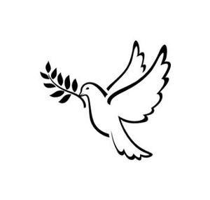 Pochoir tatouage temporaire Colombe - oiseau 11