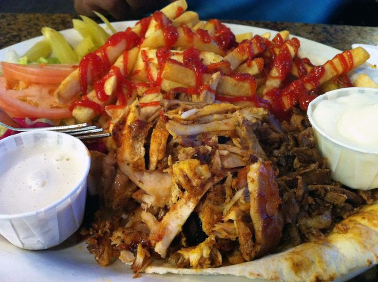 Chicken and Beef Shawarma at Paramount Fine Foods, Richmond Hill