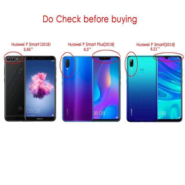vendita calda online 9e2c5 fec8f Huawei P Smart 2018 Case Leather Funda Huawei P Smart Plus ...