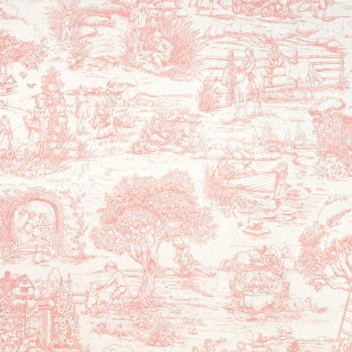 Ralph Lauren CHILD'S GARDEN TOILE PINK Fabric