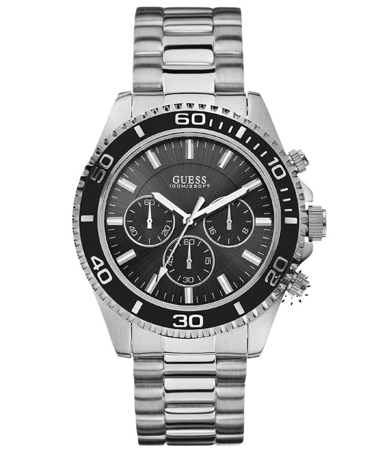 GUESS Sports Chronograph Stainless Steel Bracelet Η τιμή μας: 194€ http://www.oroloi.gr/product_info.php?products_id=32519