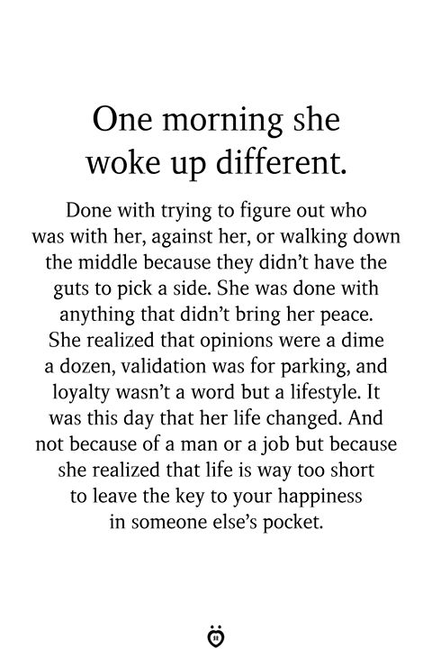 One Morning She Woke Up Different