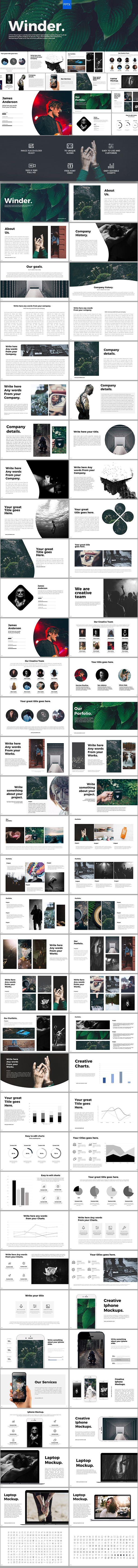 Winder Powerpoint Template 70 Unique Custom Slides #design
