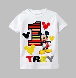 Camiseta de cumpleaños Mickey Mouse camisa de Mickey Mouse
