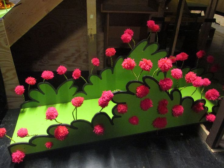 "The clover patch from ""Seussical"" is just one of the many colorful set pieces that will be used on stage."