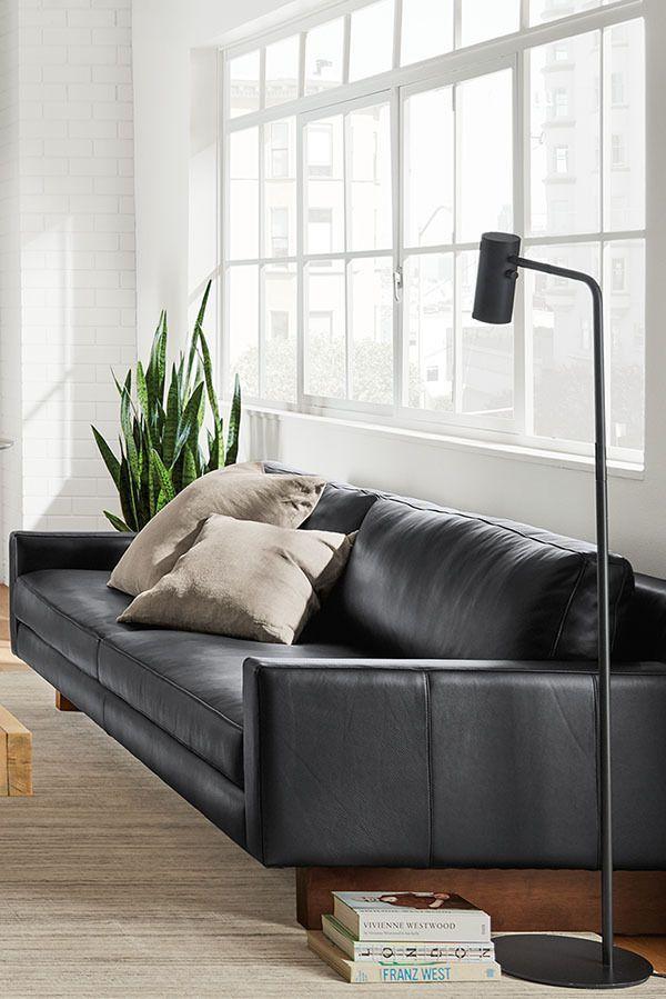 Hess Leather Sofa Modern Sofas Loveseats Modern Living Room