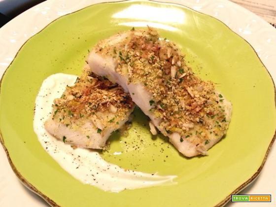 Nasello glassato con panure di semi e zenzero  #ricette #food #recipes