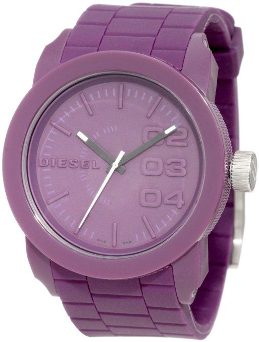 Diesel Women's Purple Color Domination Silicone Watch..definitely putting this on my list  wow
