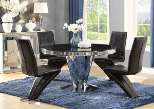Black Dining Table W/4 Side Chairs, /category/dining Room/