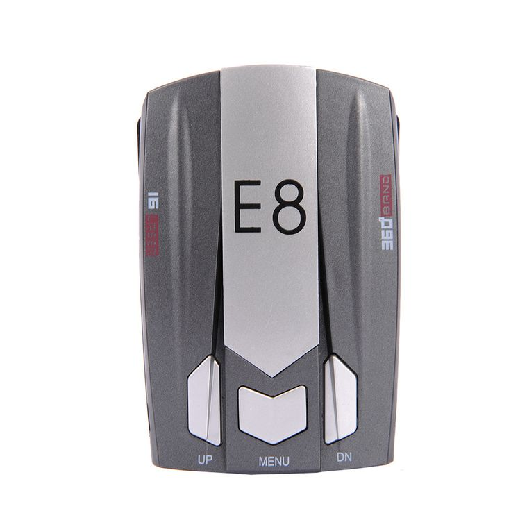 E8 Full Band 360 degrees detect Scanning Voice Anti-Police LED GPS English Russian Warning Radar Detector X K Ka Ct La 12V DC