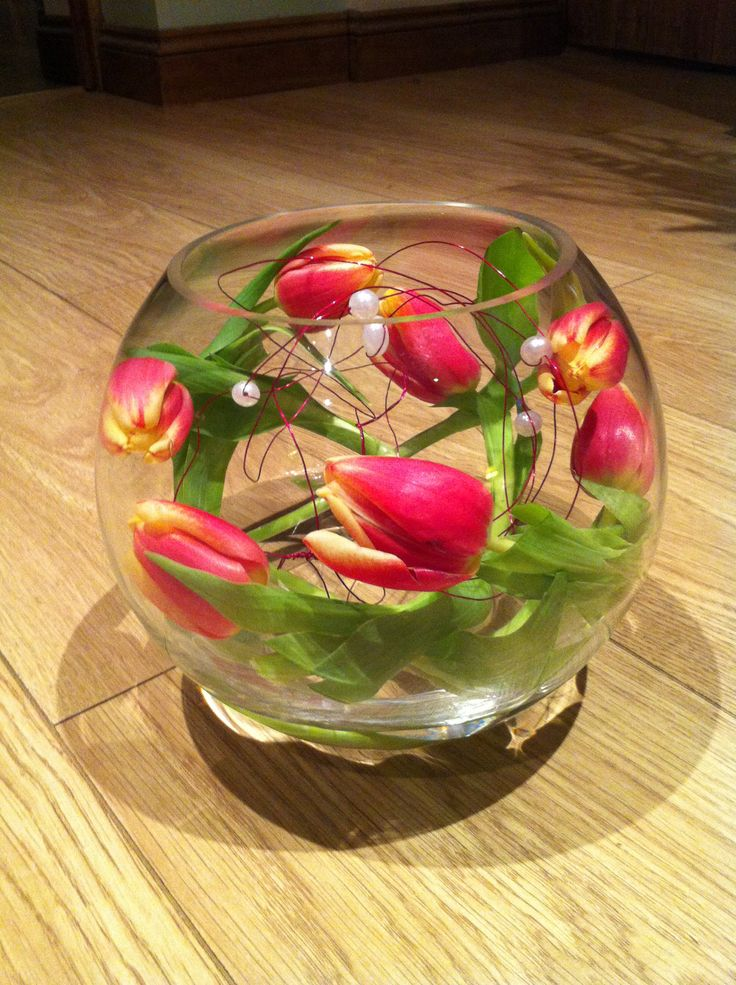 A Simple Fish Bowl Arrangement Fill Your Bowl With Around
