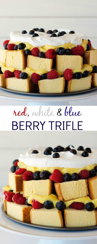 dessert, desserts, trifle, 4th of July recipes