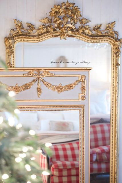 It is all in the details... a beautiful gilded French mirror