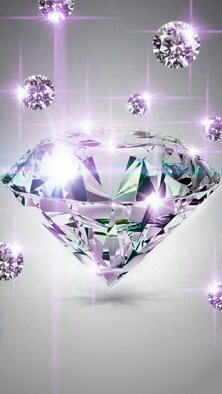 Diamant Diamond Wallpaper Bling Wallpaper Pink Glitter Background Galaxy purple diamond wallpaper