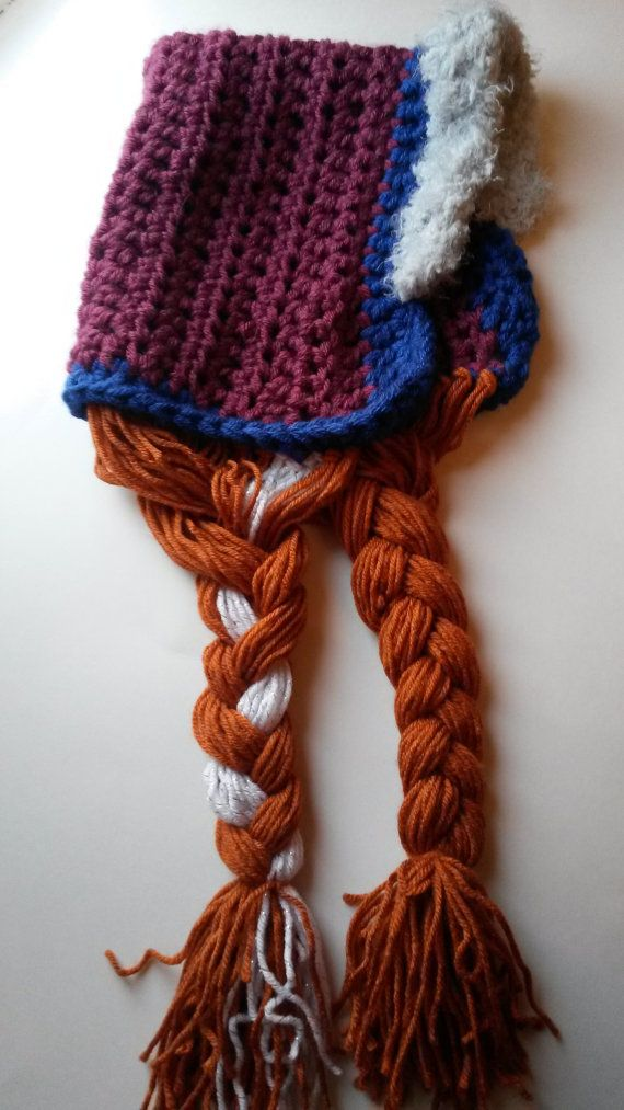 Hey, I found this really awesome. Inspired by Disney's Frozen, Anna's hat crochet PATTERN for just $2.75! Etsy listing at https://www.etsy.com/listing/176779979/pdf-instand-download-frozen-anna