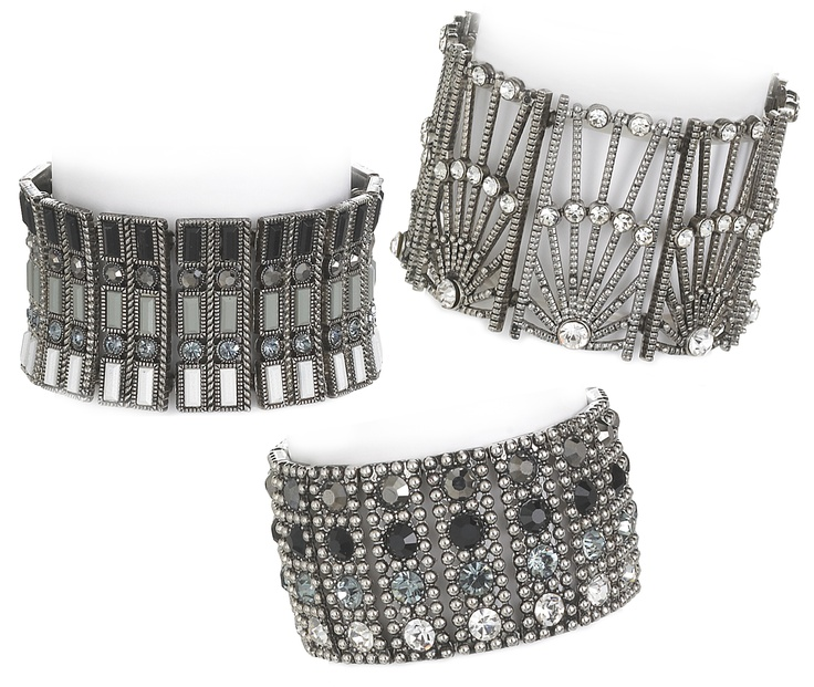 We think Daisy would have loved these Art Deco-inspired bracelets. Very Gatsby-esque.