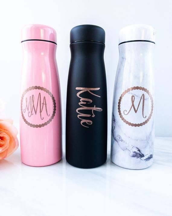 personalized water bottles monogram