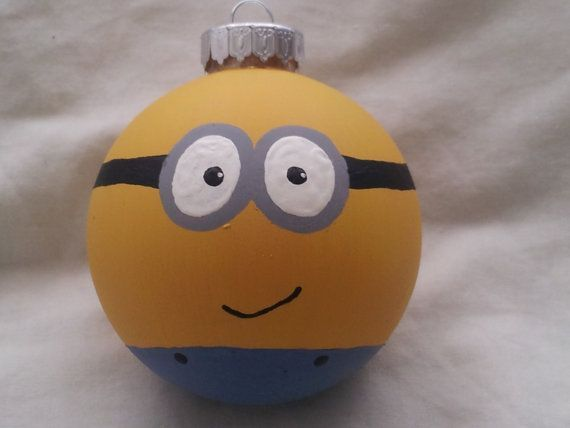 Despicable Me Minion Ornament by LastYesterday on Etsy. My mom loves these little guys. Thinking home made christmas gift!