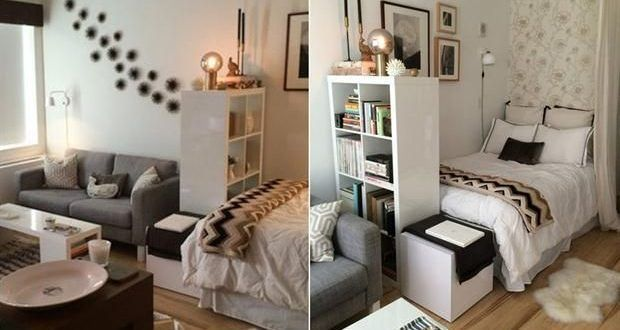 10 ideas for subdividing your studio When the bedroom is in a corner, …