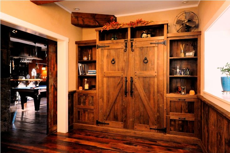 Custom Design Built In Murphy Wall Bed Reclaimed Antique