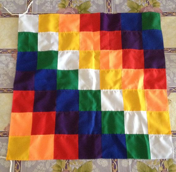 The Wiphala is an ancient flag that has represented various indigenous peoples of the Andes in Peru, Bolivia, Ecuador and northern Chile and Argentina throughout the centuries. It is now the co-official flag of Bolivia, and although it has been associated with the Inca Empire, and more