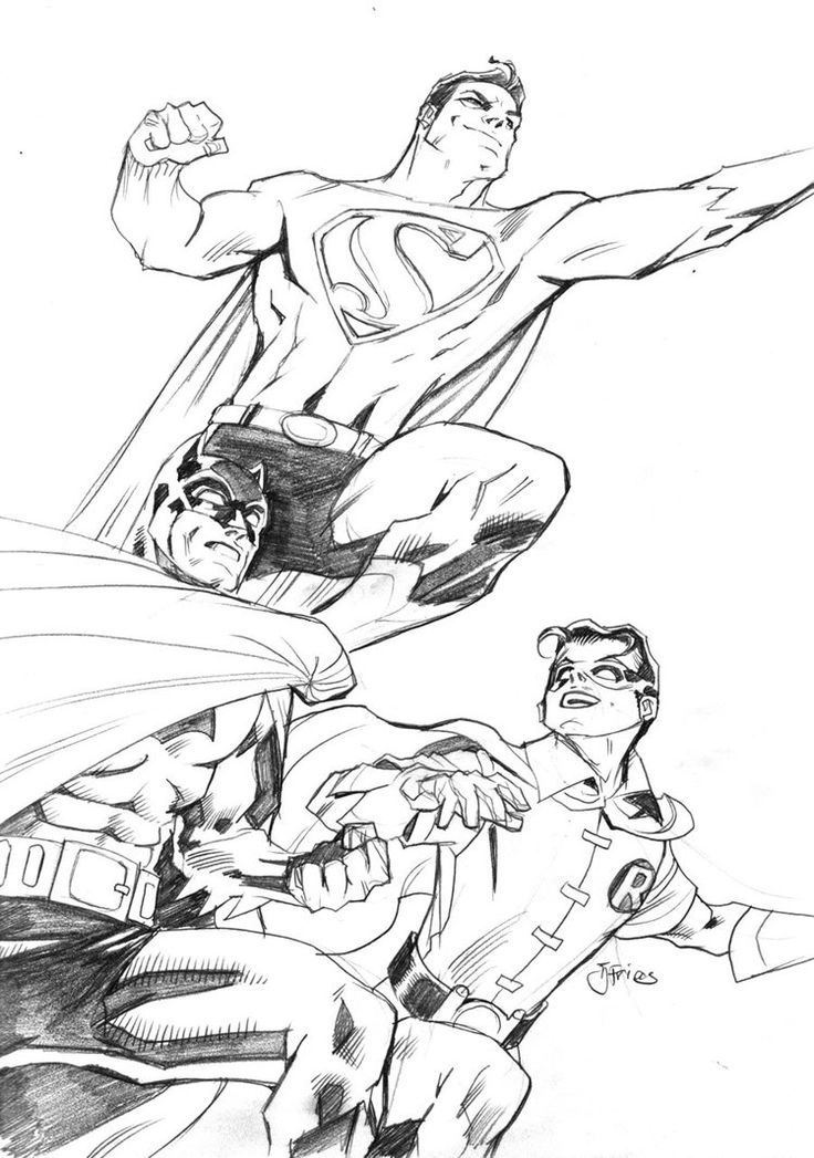 And For My First Sketch I Present DCs Worlds Finest Superman Batman Robin In T DC Classics