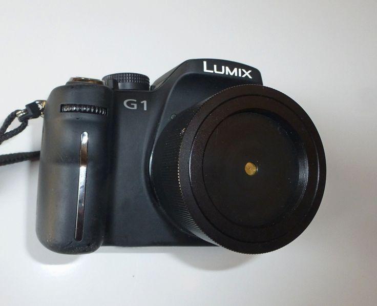 La mia LUMIX G1 adattata alla Fotografia Stenopeica con obiettivo a foro stenopeico professionale con diametro foro calibrato e realizzato su lamina di ottone di spess. 0,020 +/- 0,002 mm Focale equiparata a un 45 mm, apertura f:180, diametro foro 0,25 mm