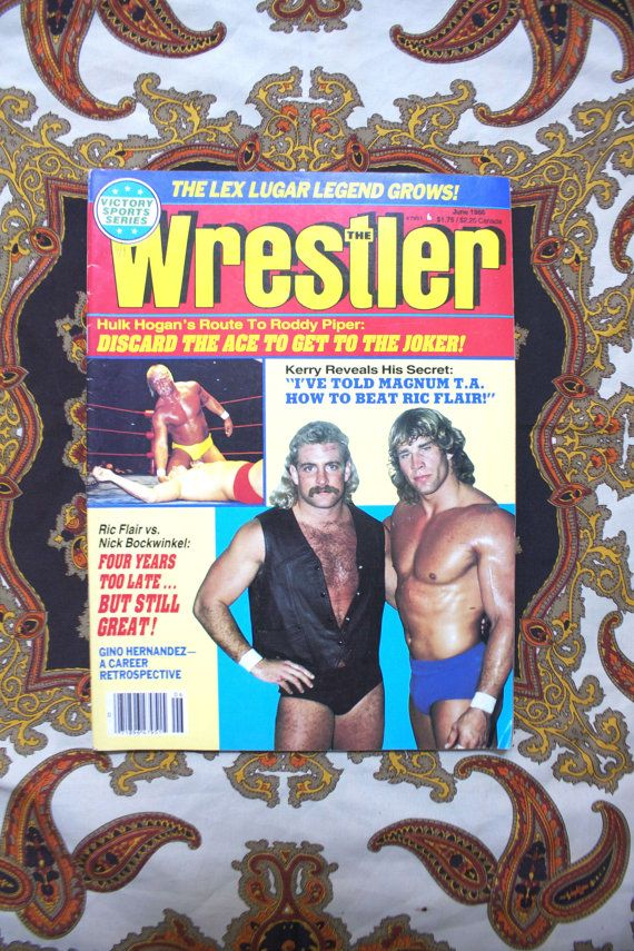 Vintage The Wrestler Magazine. Kerry Von Erich by ElevatedWeirdo