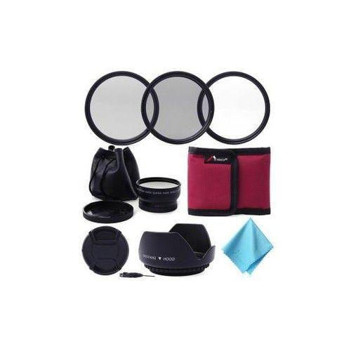 XCSOURCE® Objectif grand angle 52MM 0.45x + Kit de filtre UV CPL ND4 pour Nikon D3200 D3100 LF412
