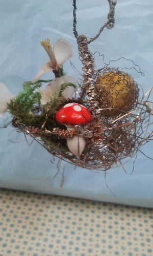 Old German Wire Wrapped Sebnitz Fruit Flower Basket Ornament | eBay