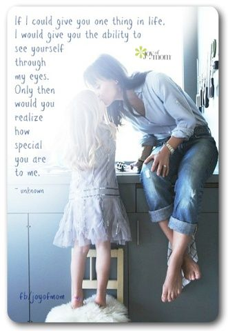 So beautiful, this is exactly how I feel with my daughter.  I only wish she knew how I felt.