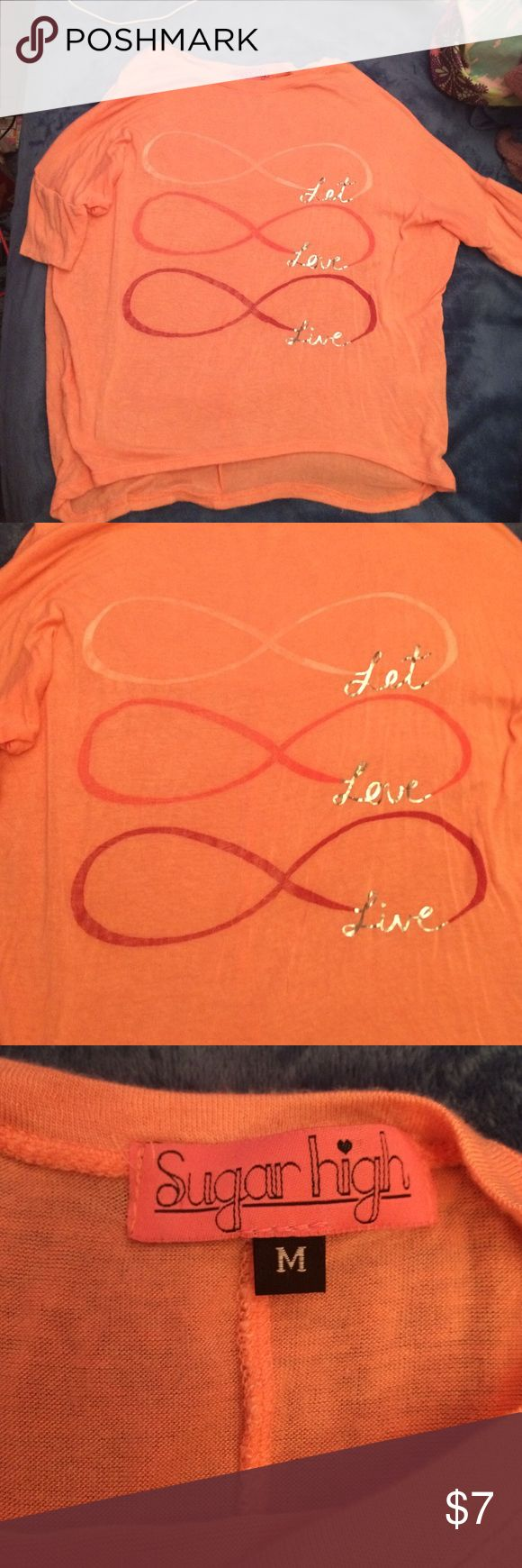 Infinity Shirt! An orange infinity shirt! Great condition! Coming from a smoke free home! sugar high Tops Tees - Short Sleeve