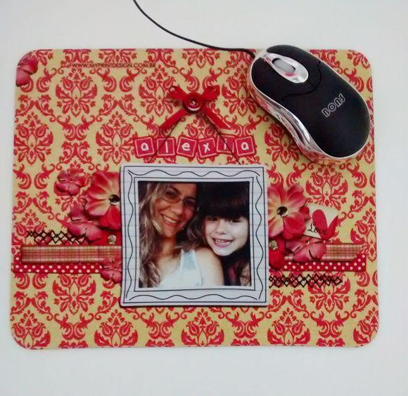 Lindo presente, que agrada pessoas especiais.  mouse pad personalizado com foto.  retangular  tamanho 23x19x2mm      Enviamos layout para aprovação após pagamento! R$ 15,00