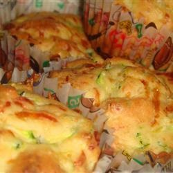 Muffins au zucchini et fromage Cheddar