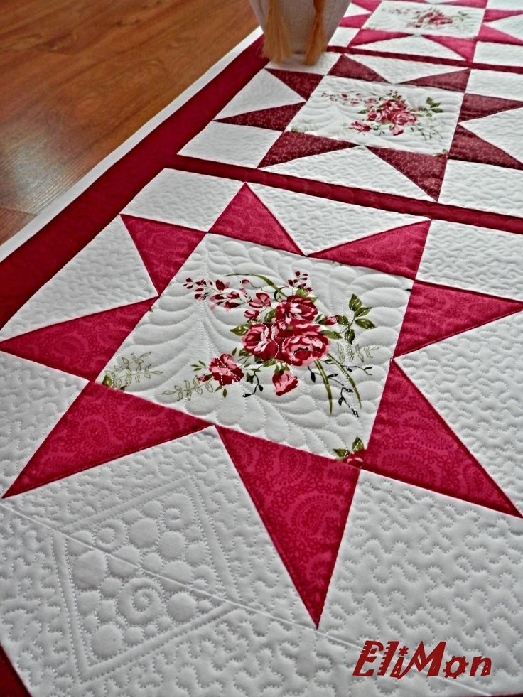 Table runner , parchwork & quilt.