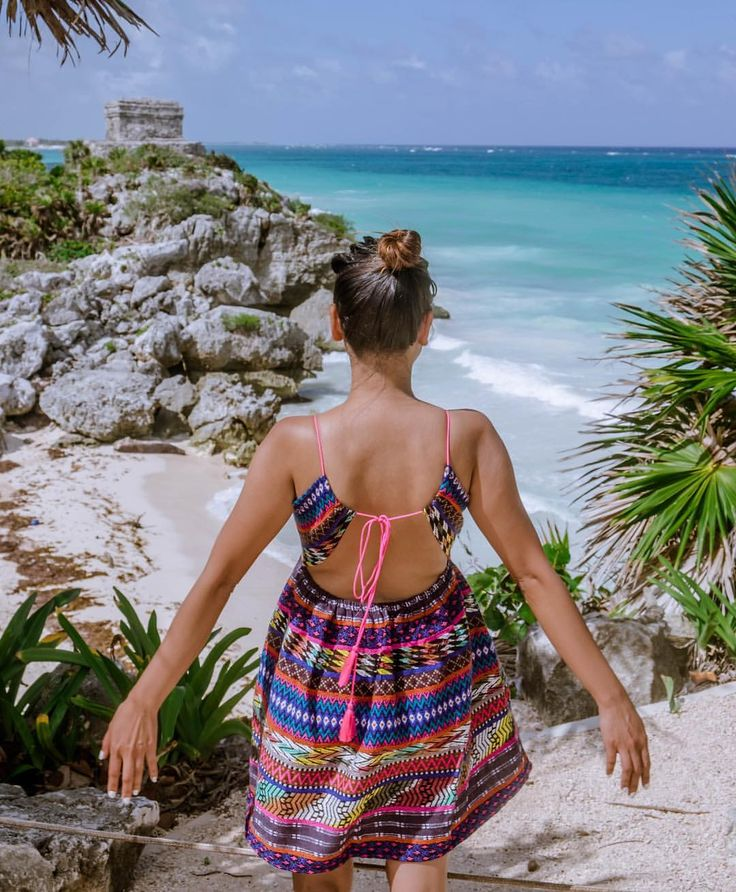 visited the Mayan Ruins of Tulum overlooking azure water of caribbean sea. Unforgettable experience…""