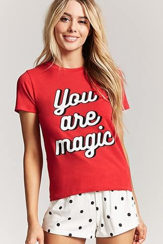 97683b058de You Are Magic Graphic Pajama Set | Shop the look products | Forever ...