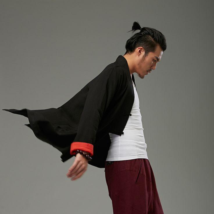 Vestito di linguetta di stile cinese personalità cardigan casual fluido tuta sportiva top uomini in Vestito di linguetta di stile cinese personalità cardigan casual fluido tuta sportiva top uomini Lunghezza: 75 cm sda Parti superiori su AliExpress.com | Gruppo Alibaba