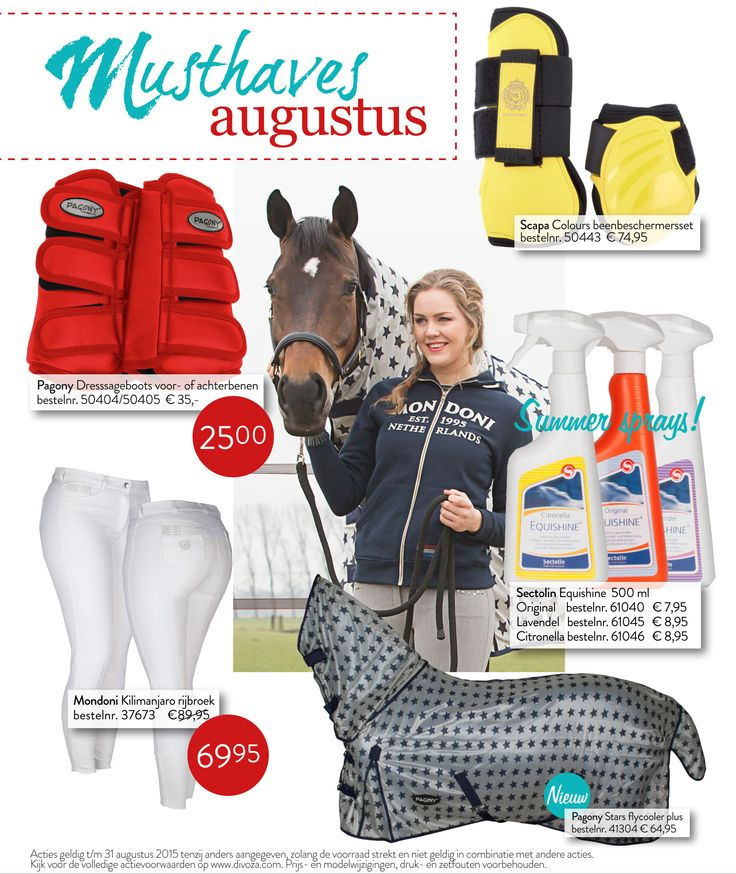 Musthaves Augustus 2015. #musthaves #augustus #horse #paard #ruitersport #mode #fashion