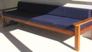 Custom extra long bench seat Illusive Wood Designs