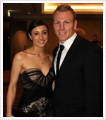 Luke and Sonia Lewis, Penrith Panthers NRL Player and his wife