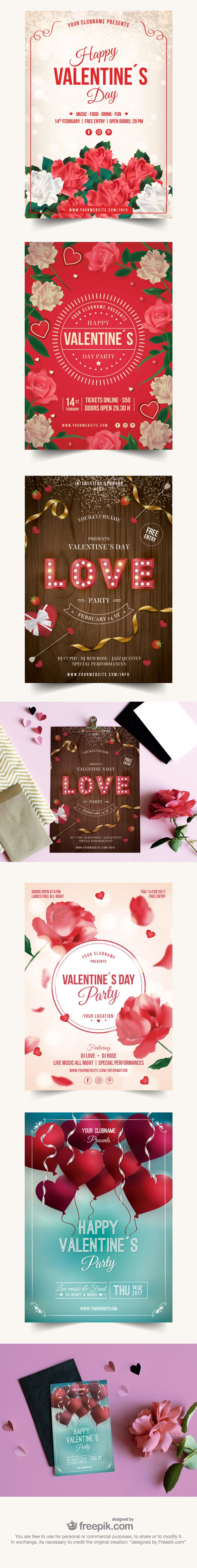 Free Download : 5 Ready To Print Valentine's Day Posters (exclusive)