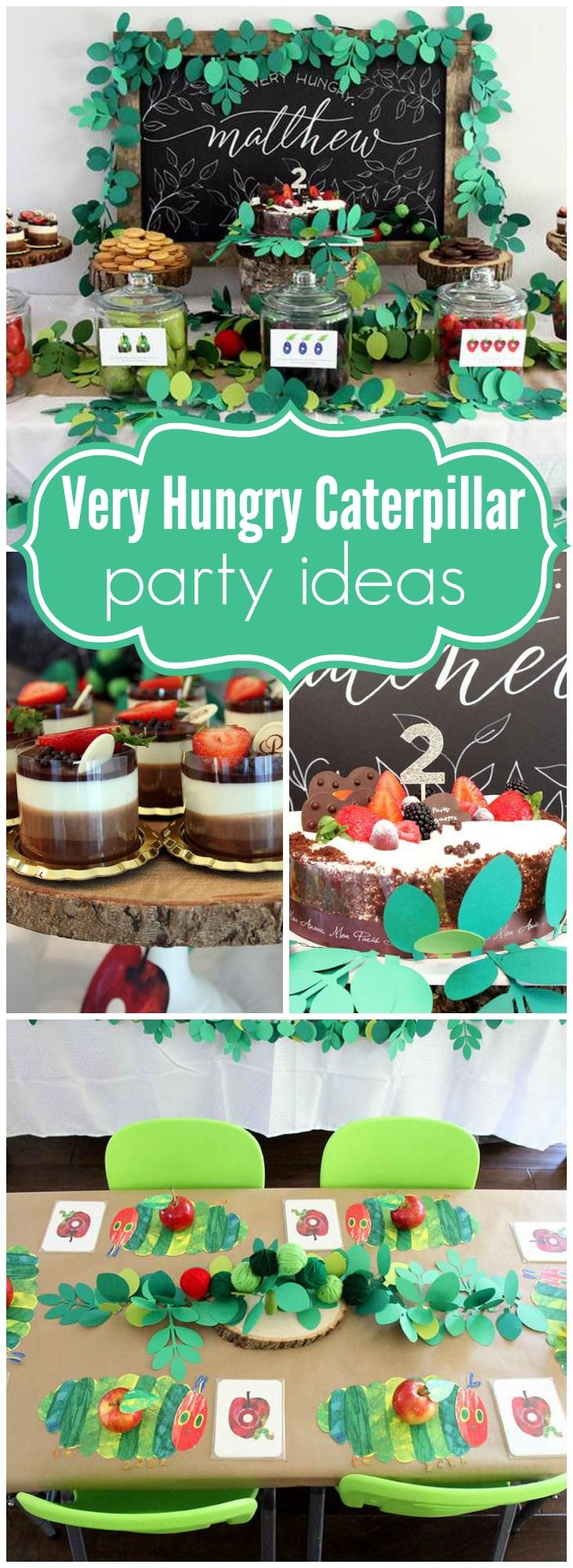 Check out this Very Hungry Caterpillar party with a rustic twist! See more party ideas at CatchMyParty.com!