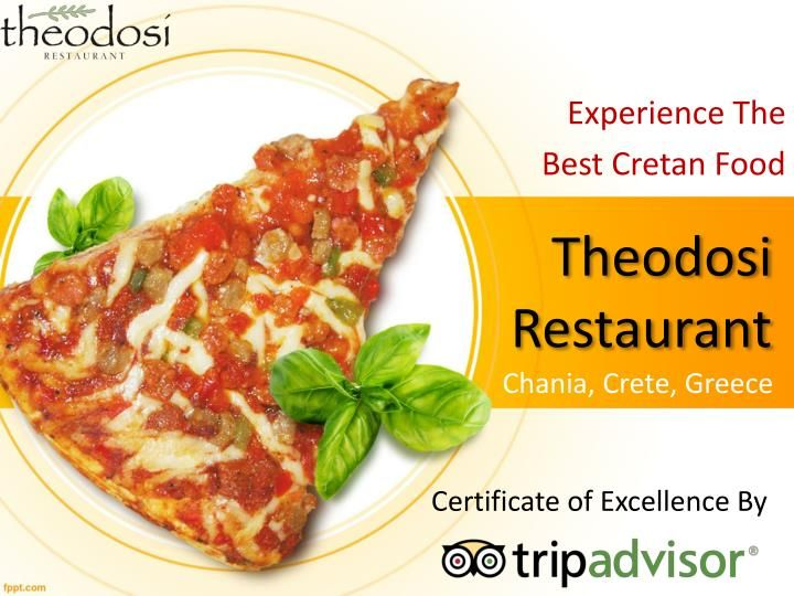 Over hundreds of restaurants in Chania, Crete, Theodosirestaurant is one of the best Chania restaurants that serve Cretan food and wine.