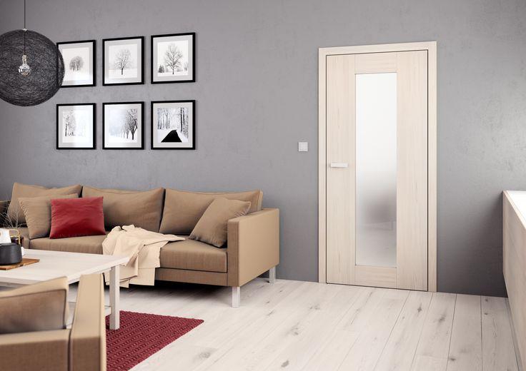 Vnitřní dveře Sapeli - TALIA CPL borovice bílá struktur