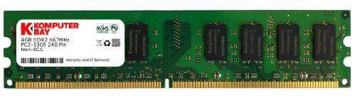 Komputerbay 4GB DDR2 DIMM (240 PIN) 667Mhz PC2 5400 PC2 5300 4 GB